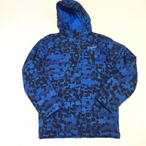 Columbia Boys L 14 16 Blue Camo Puffer Coat Winter